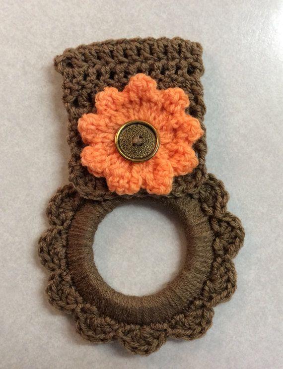 Kitchen towel hanger, oven towel hanger, Mother\'s Day gift, crochet ...