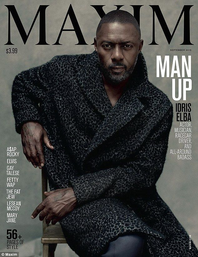 Elba room: Idris Elba has become the first ever solo male cover star for Maxim magazine...