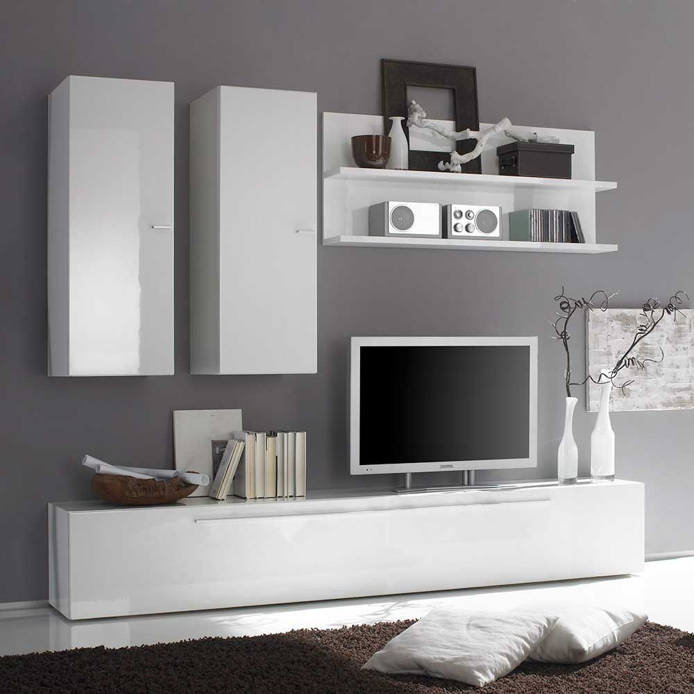Tv Anbauwand In Hochglanz Weiß 210 Cm 4 Teilig Jetzt Bestellen Unter Https Moebel Ladendirek Wohnwand Weiß Hochglanz Wohnzimmer Tv Moderne Wohnzimmerideen