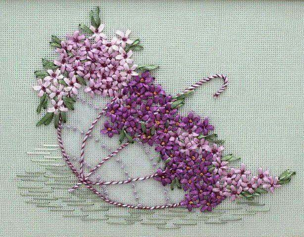 Pin By Gaylin Soyba On Izimler Pinterest Embroidery Ribbon