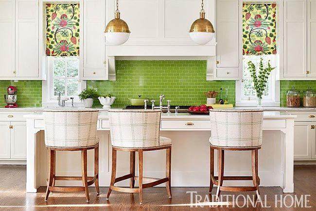 Decoracion Azulejos Cocina | Cocina Con Azulejos Verde Esmeralda Decoracion Moderna Reforma