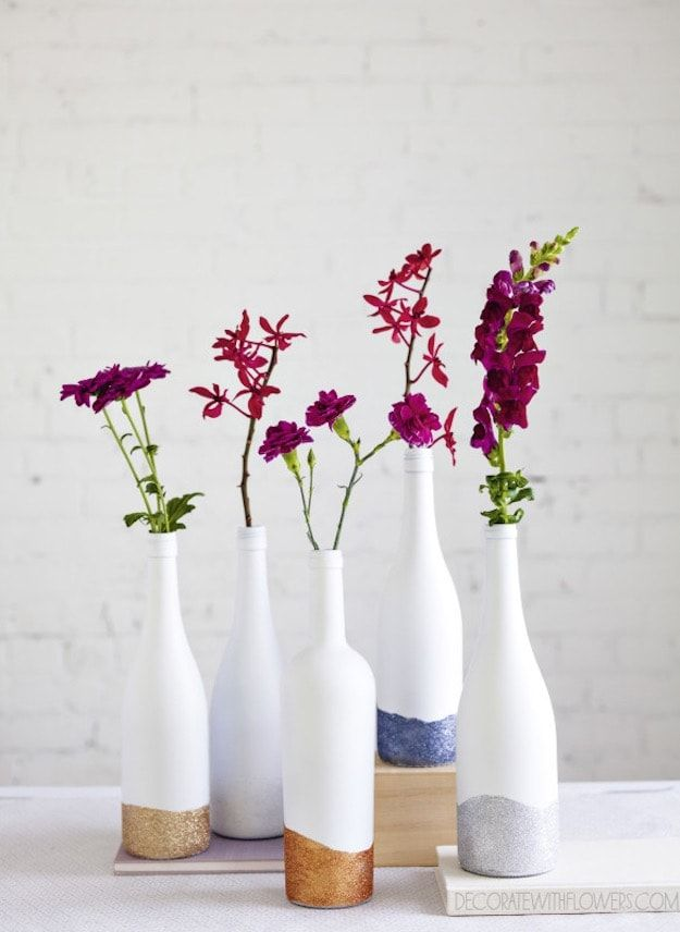 Vases Breathtaking Wine Bottle Crafts Ideas