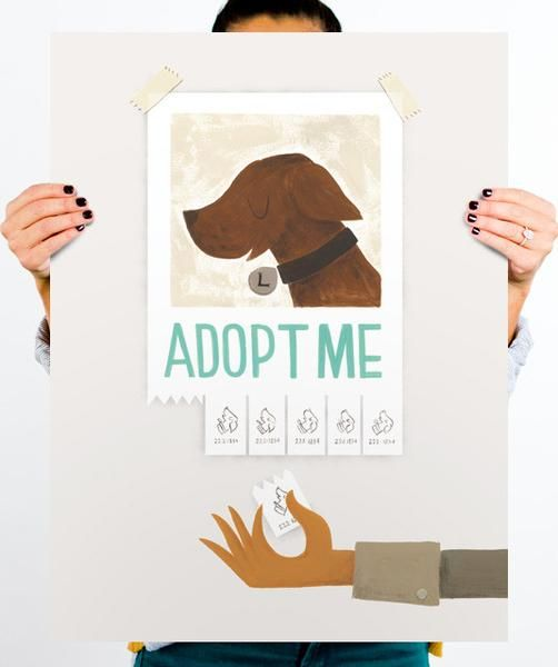 Adopt Me Artwork By Roxanne Daner Animal Posters Dog