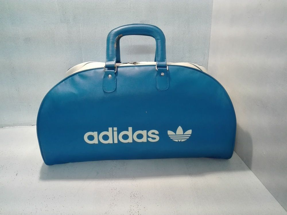 Rare vintage Adidas   Goodyear sports bag in synthetic leather ... 744bd82453530