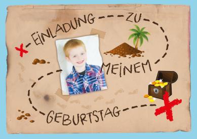 Lustige Schatzkarten Einladung Zum Kindergeburtstag Mit Thema Schatzsuche /  Piraten #EinladungGeburtstag.de