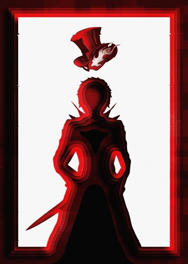 Persona Silhouette Characters Displate Posters