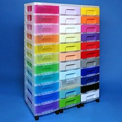 Storage tower triple with 33x7 litre Really Useful Drawers. For keeping things organised! Via colour-coded drawers! & Storage tower triple with 33x7 litre Really Useful Drawers. For ...