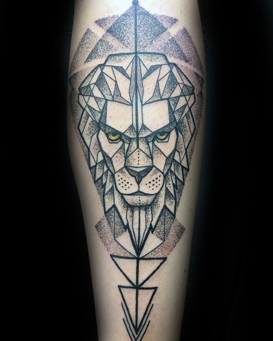 Top 57 Geometric Lion Tattoo Ideas 2020 Inspiration Guide Geometric Lion Tattoo Geometric Lion Lion Forearm Tattoos