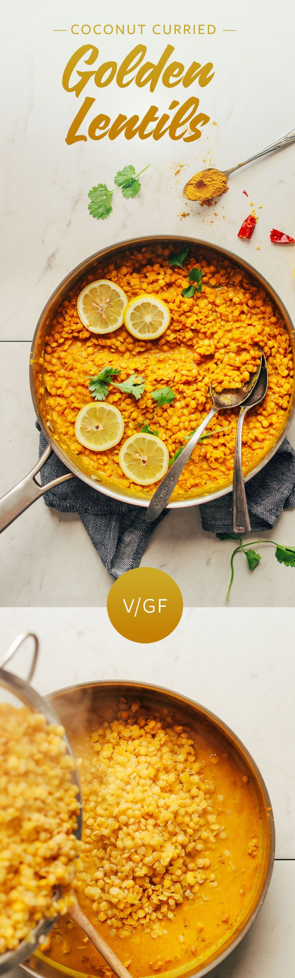 Coconut Curried Golden Lentils! 20 minutes, healthy, SO satisfying!AMAZING Coconut Curried Golden Lentils! 20 minutes, healthy, SO satisfying!