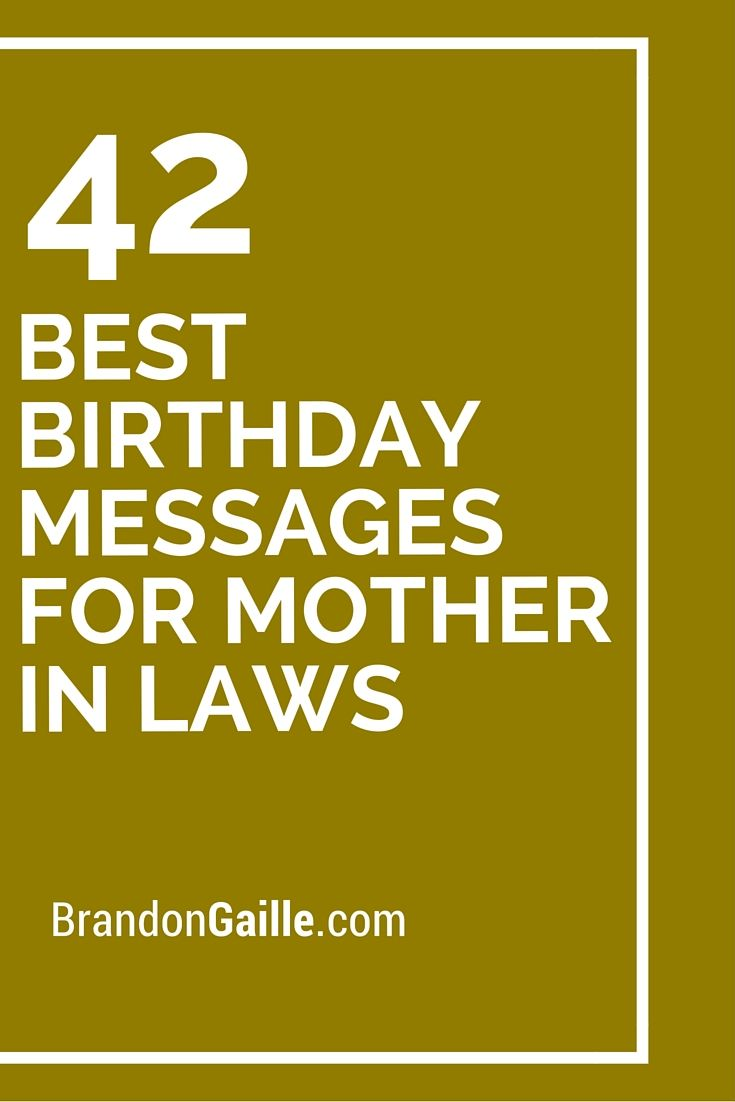 42 Best Birthday Messages For Mother In Laws Messages And