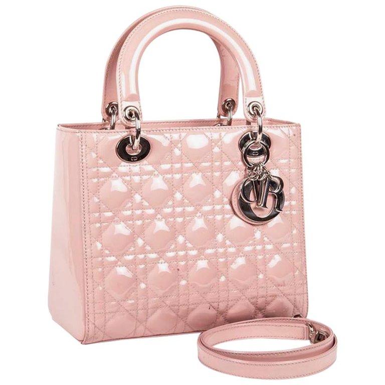 171df306f0 Christian Dior Top Handle Bag - Dior Lady Dior Bag Varnished Quilted ...