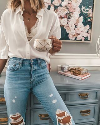 "Becky Hillyard // Cella Jane on Instagram: ""Sharing my most worn ""best of denim"" on cellajane.com – including my favorite jeans and cut off shorts with full review and sizing details!…"""