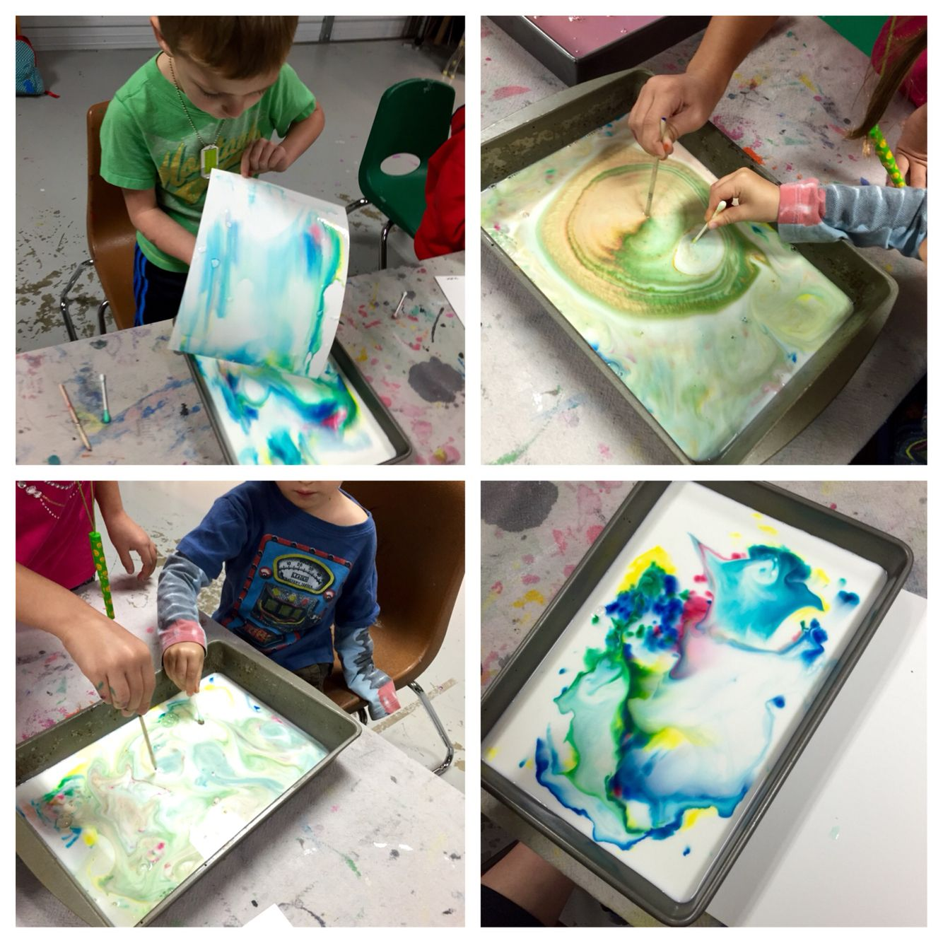 Science Art Experiment With Milk Liquid Watercolors And Dish