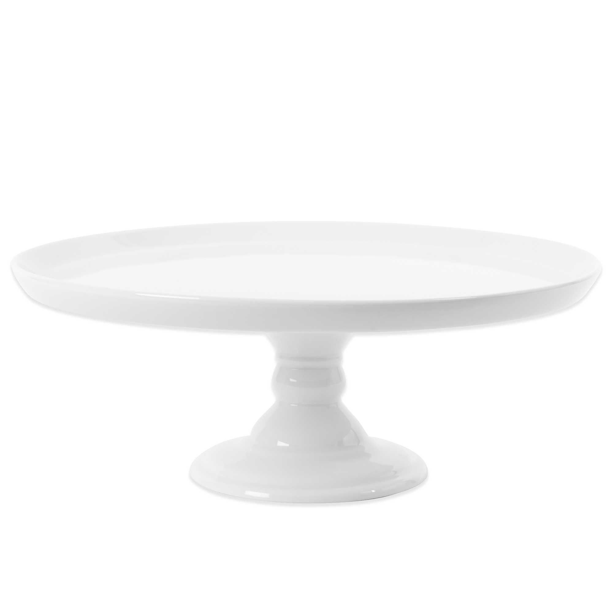Everyday White By Fitz And Floyd Footed Cake Stand