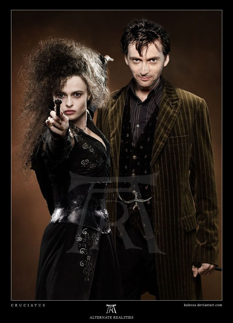bellatrix and barty crouch jr in 2019 david tennant