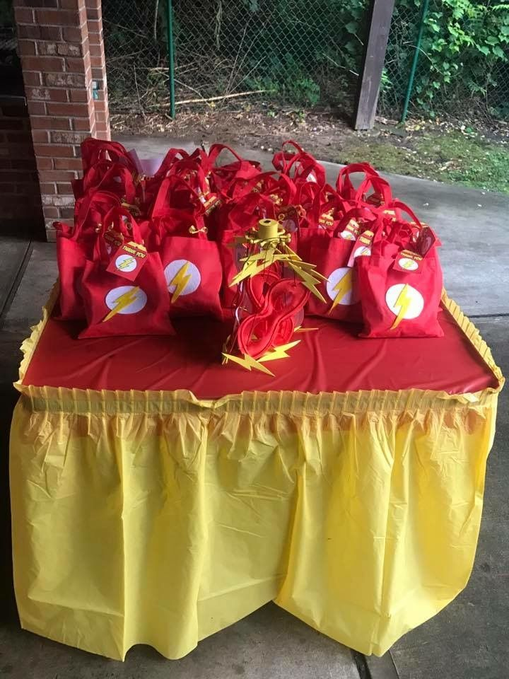 Diy The Flash Theme Birthday Party Birthday Party Goodie Bags