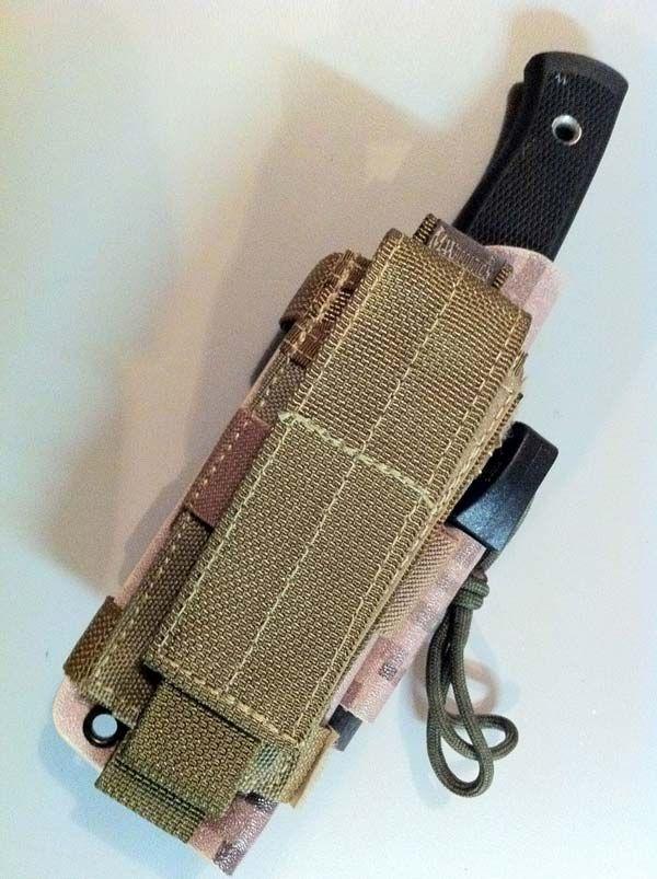 Fallkniven F1 Custom Kydex Desert Digicam Sheath With