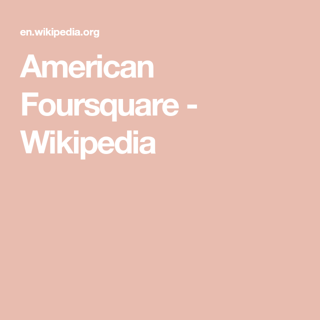 American Foursquare