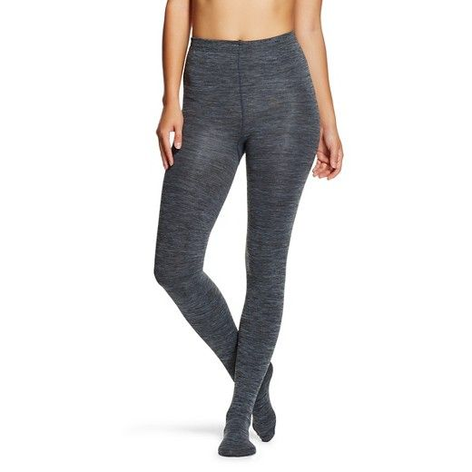 Keep Warm This Winter With Womens Fleece Lined Tights Gray Marl
