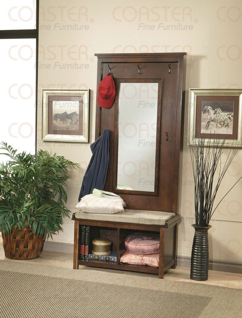 Fabulous Amazon Com Walnut Finish Hall Tree Coat Hanger With Pabps2019 Chair Design Images Pabps2019Com