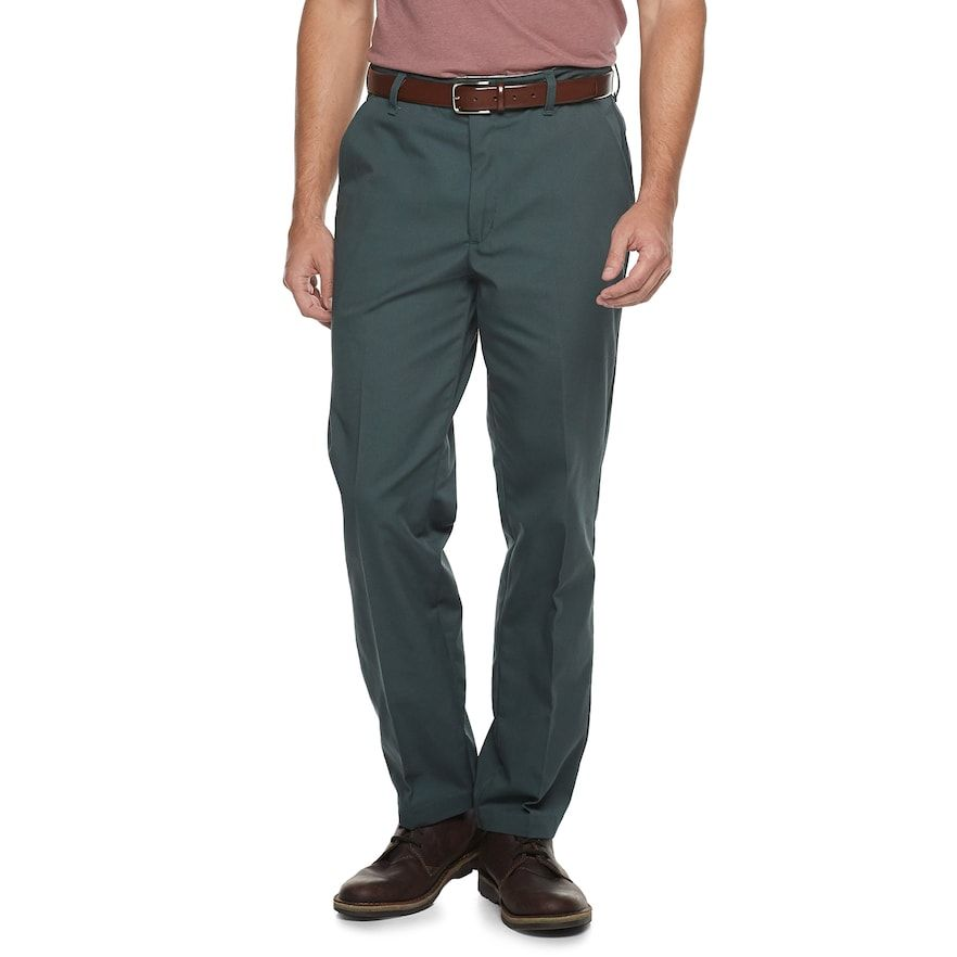 Be ready for anything. These men's core industrial pants from Red Kap will take you from one tough job to the next. Be ready for anything. These men's core industrial pants from Red Kap will take you from one tough job to the next. Moisture-wicking fabric keeps you dry and comfortable Wrinkle-resistant finish 4-pocket Button and zipper flyFABRIC & CARE Polyester, cotton Machine wash Imported Size: 33X30. Color: Green. Gender: male. Age Group: adult. Pattern: Solid. Material: Cotton Blend.