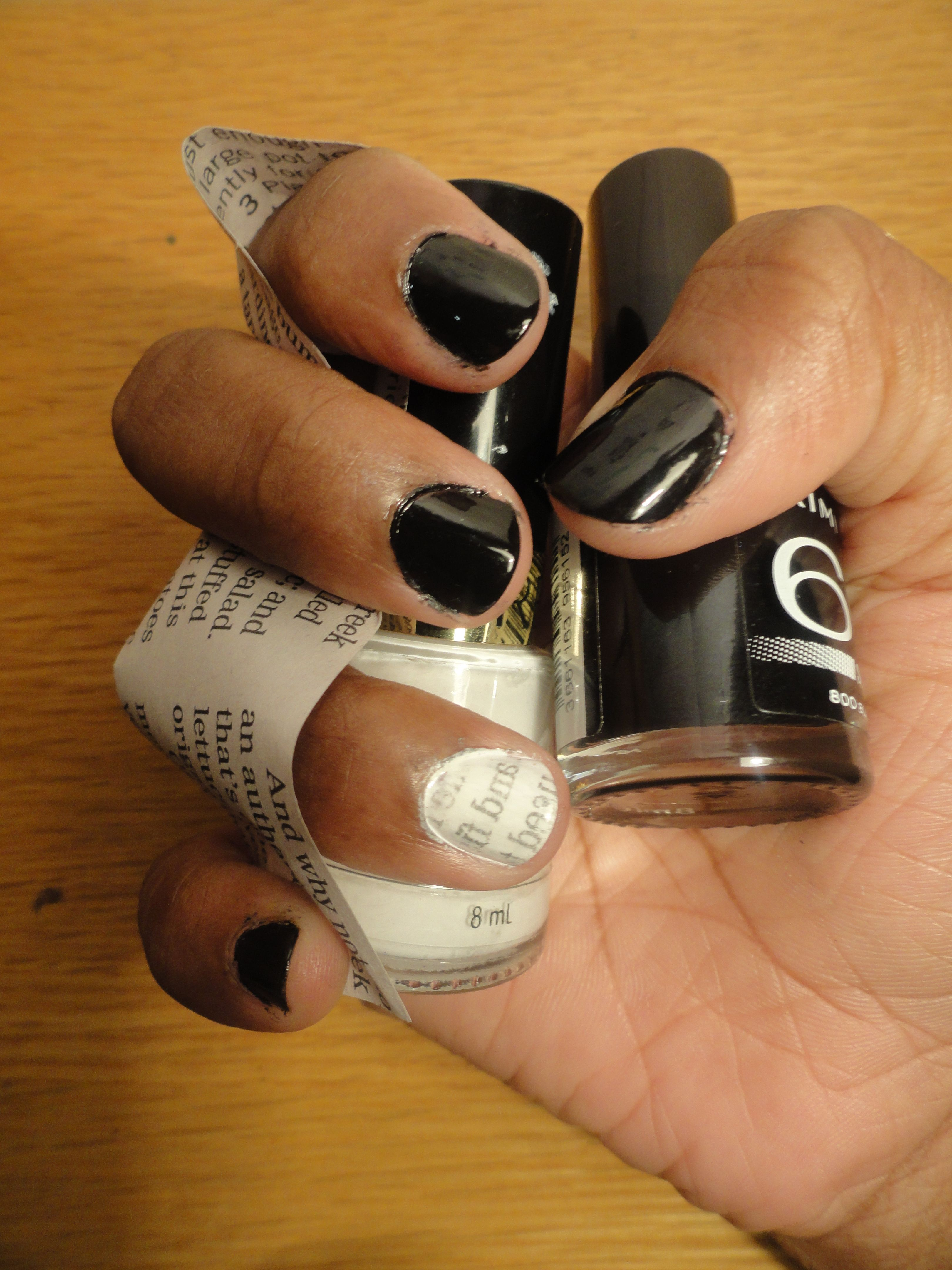 Newspaper Effect Nails With A Twist With Tutorial