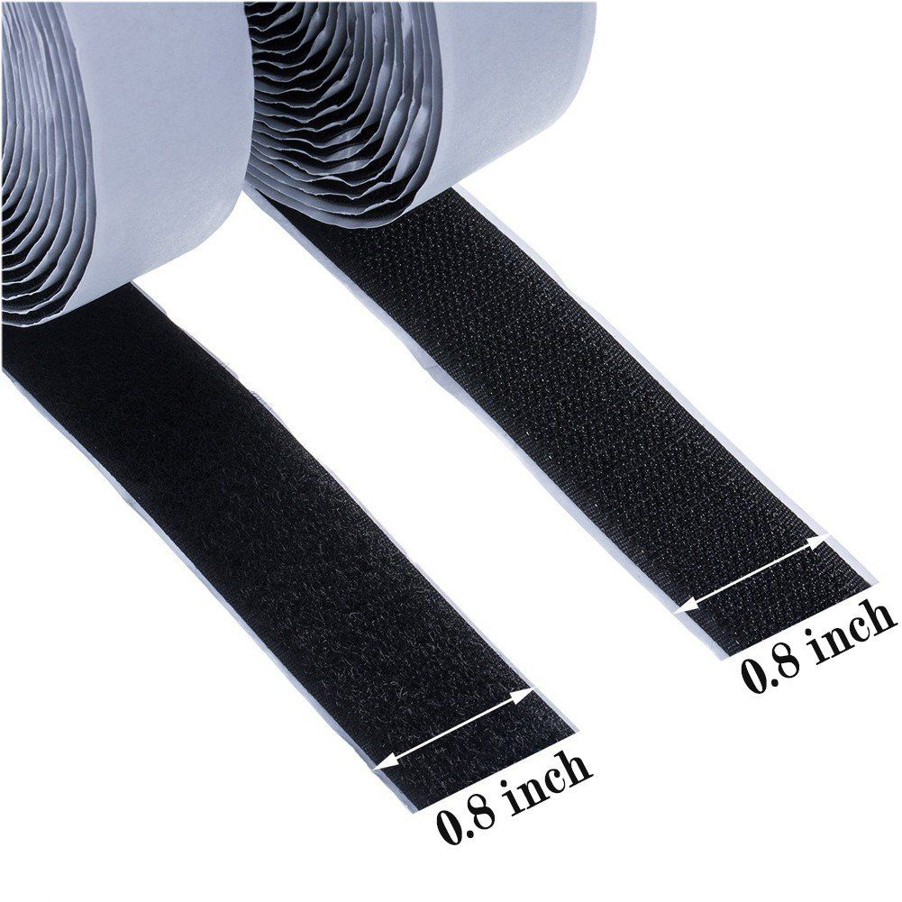 wish you have a nice day 1 inch 10 Yards White Sew on Hook and Loop Fastener Sew 1inch, 10 Yards