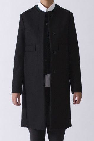 Marni Collarless Felt coat   https://www.envoyofbelfast.com/shop/693/marni/collarless-felt-coat