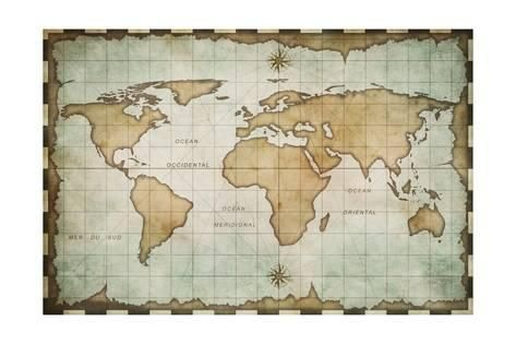 Aged old world map aged old world map posters by andrey kuzmin allposters gumiabroncs Gallery
