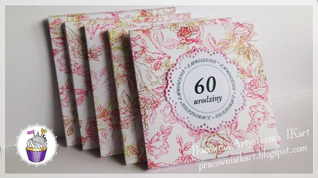 Pracownia Artystyczna Ikart Jesienne Zaproszenia Na 60 Te Urodziny Diy And Crafts Crafts Book Cover