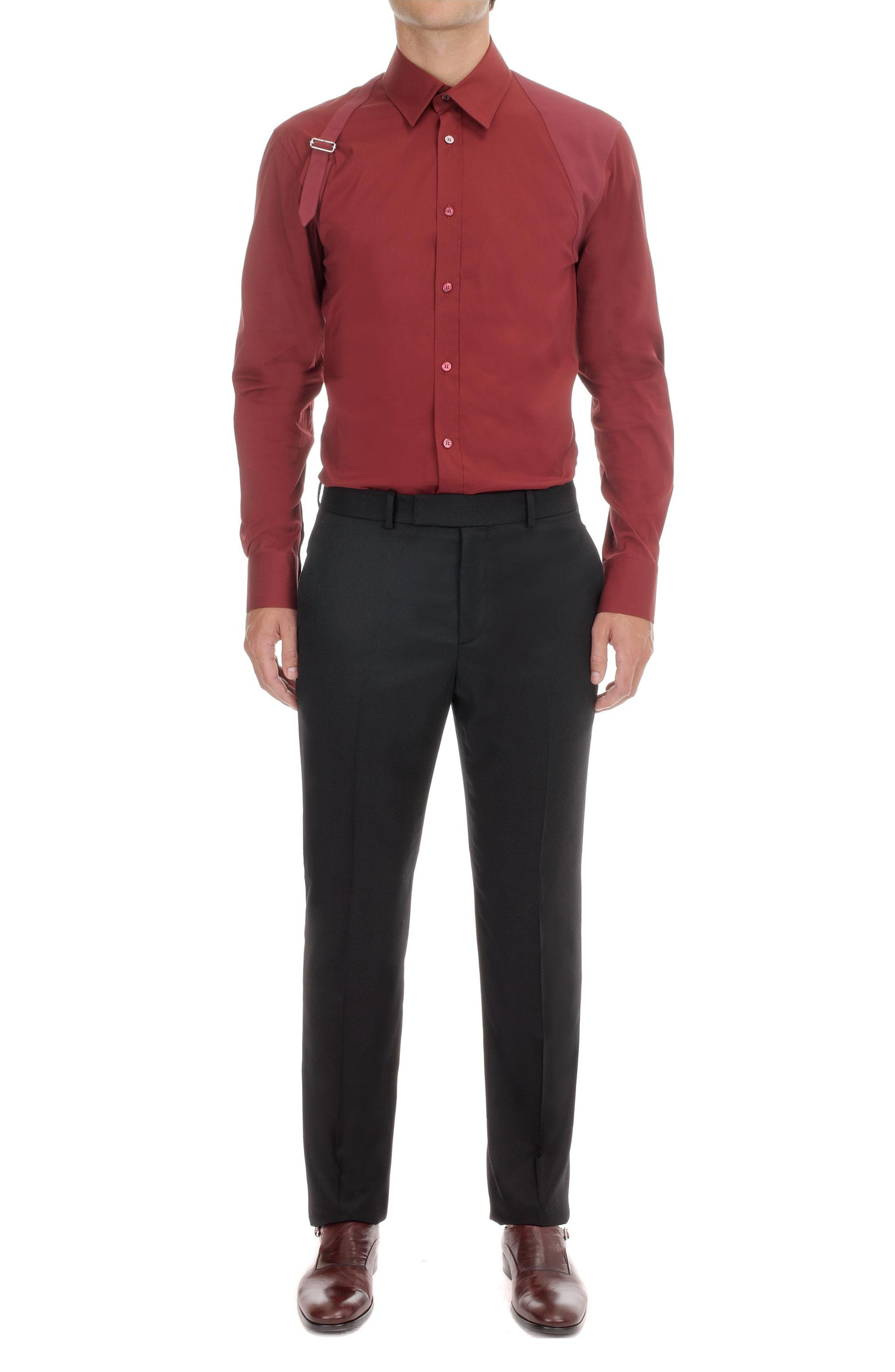 Alexander McQueen Bordeaux Harness Shirt