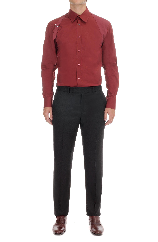 Alexander McQueen Bordeaux Harness Shirt