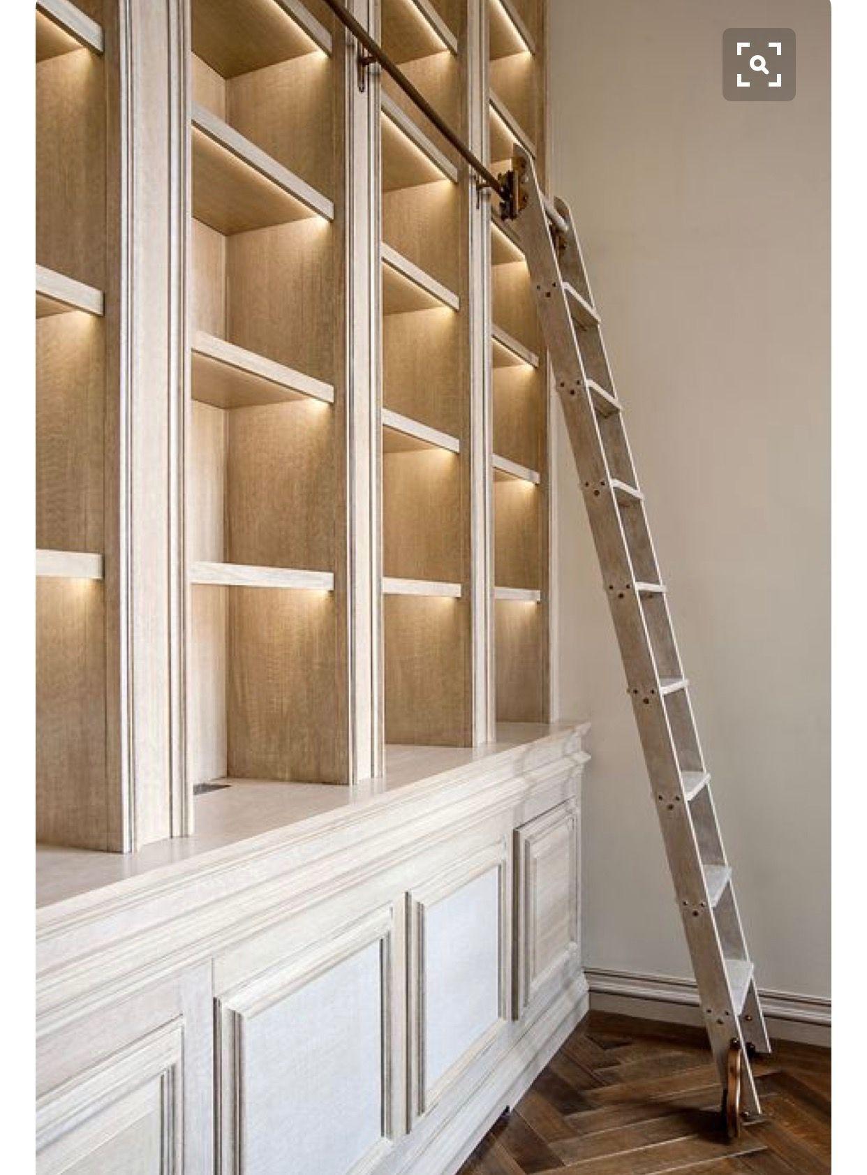 Library Ladder Library Ladder Bookshelf Lighting Home Library