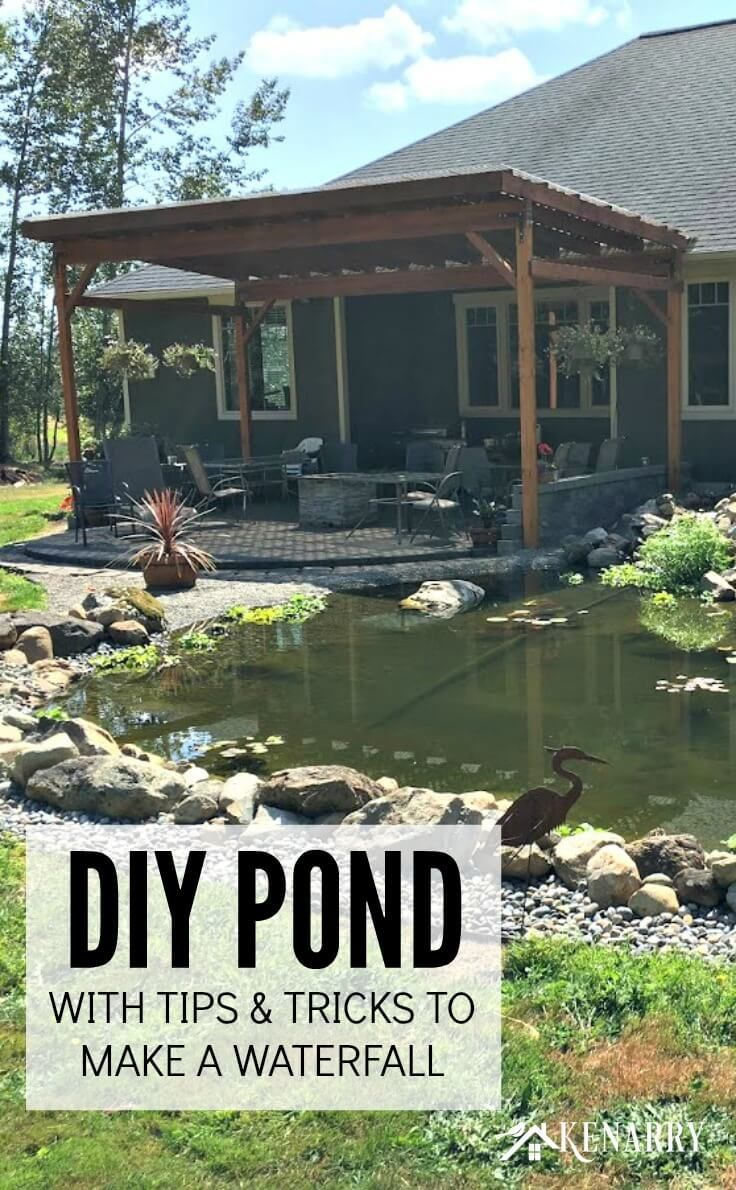 DIY Pond: How to Make a Backyard Oasis with Waterfall | Do ...