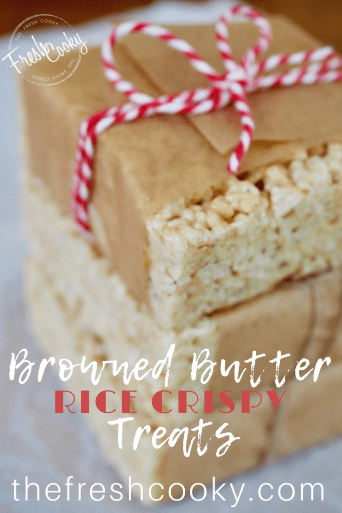 Browned Butter Rice Crispy Treats #crispytreats