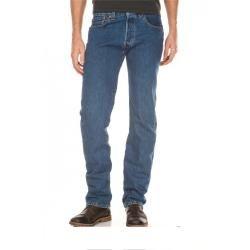 Reduced straight leg jeans for men