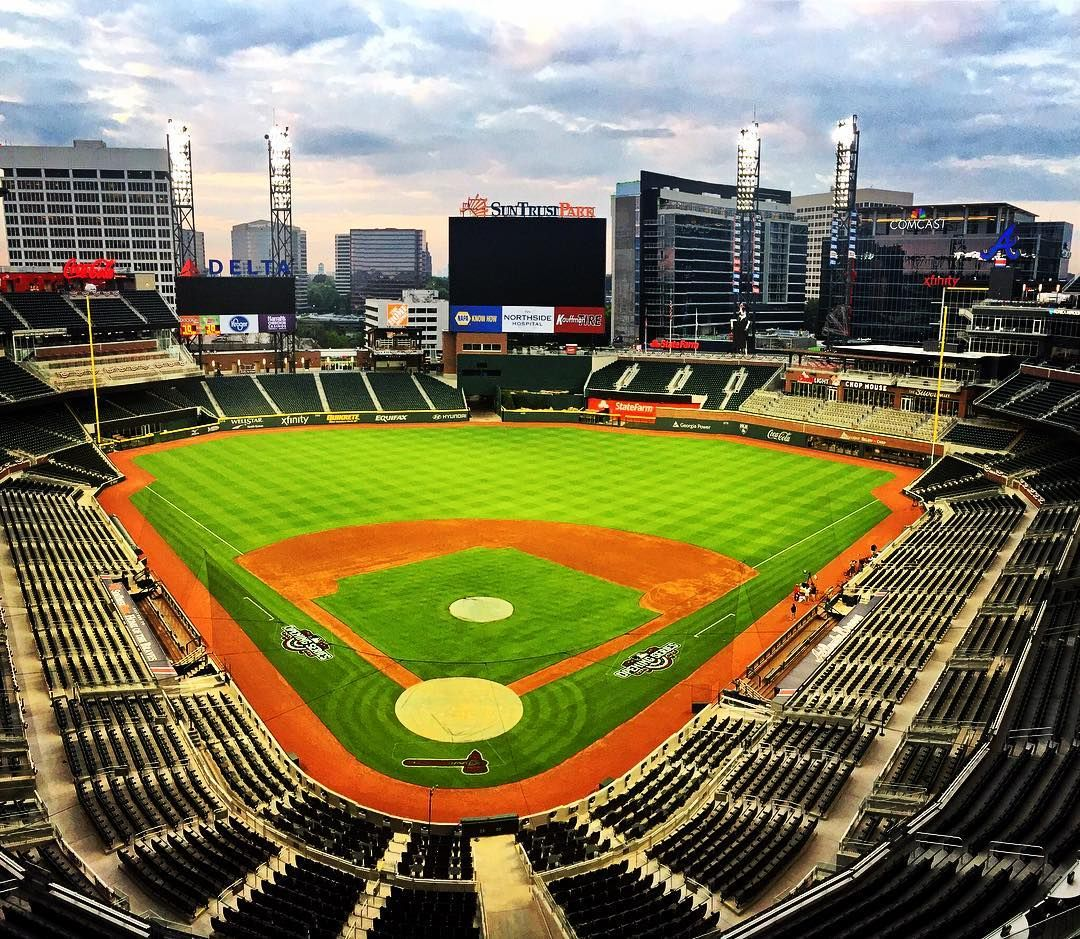 Wake Up Braves Country It S Opening Day At Suntrustpark Chopon Atlanta Braves Braves Mlb Stadiums