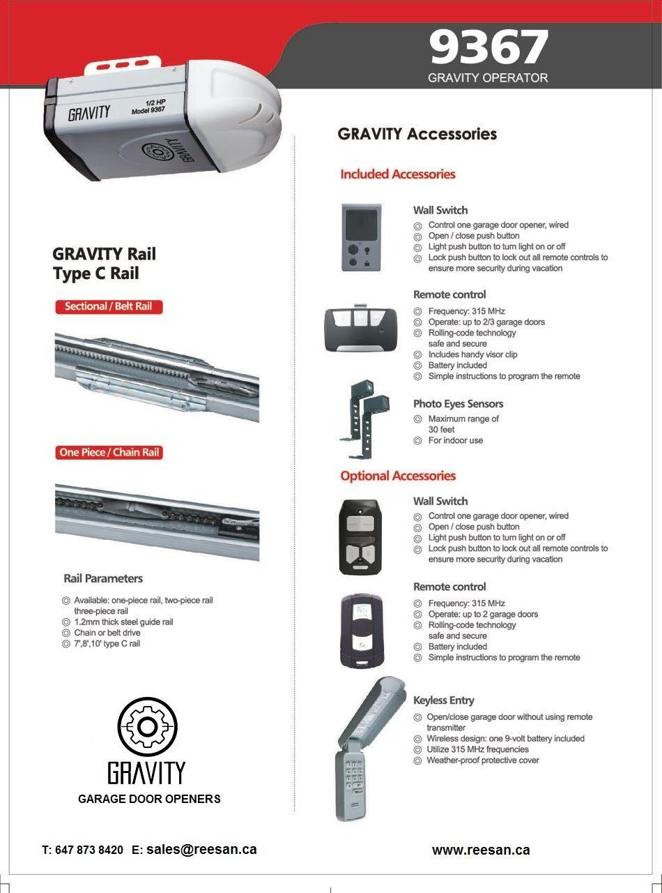 Model 9367 Operator Garage Door Opener Garage Doors Types Of Buttons