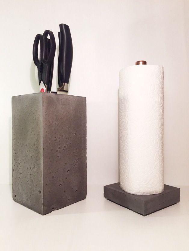 concrete art - Cerca con Google design Pinterest - halter für küchenrolle