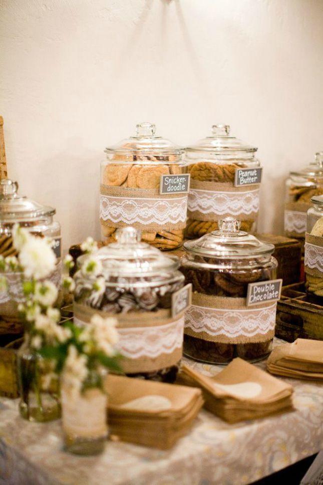 11 Creative Wedding Buffet Ideas To Personalize Your Reception Diy Wedding Food Cookie Bar Wedding Wedding Buffet