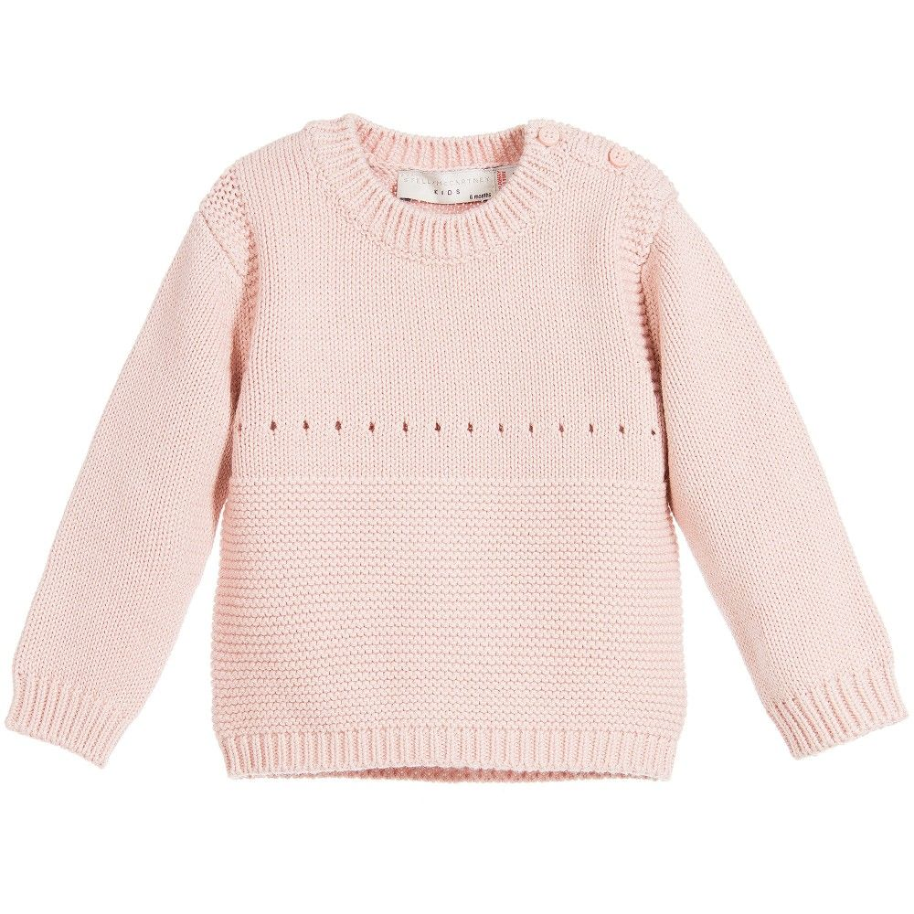 Baby girls adorable dusky pink sweater by Stella McCartney Kids ...