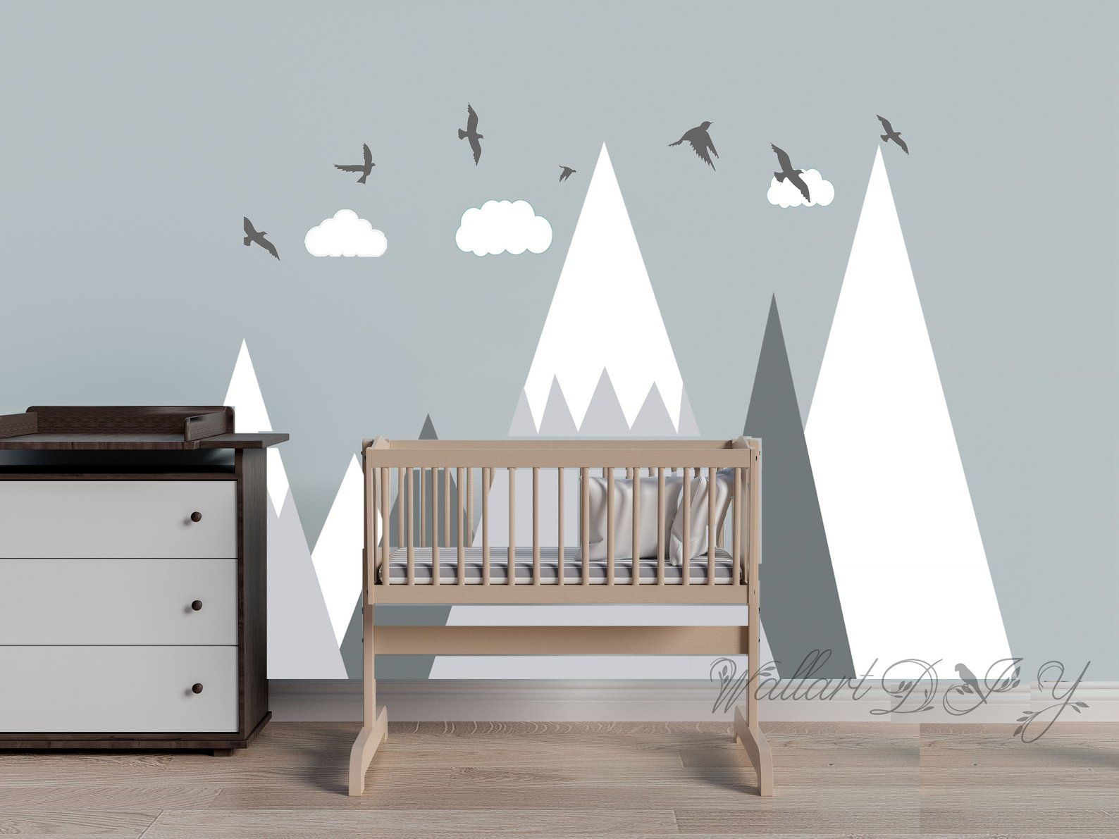 Kinderzimmer Wand Mountains Wall Decal Kid S Room Mountain Wall Decor Nursery Wall