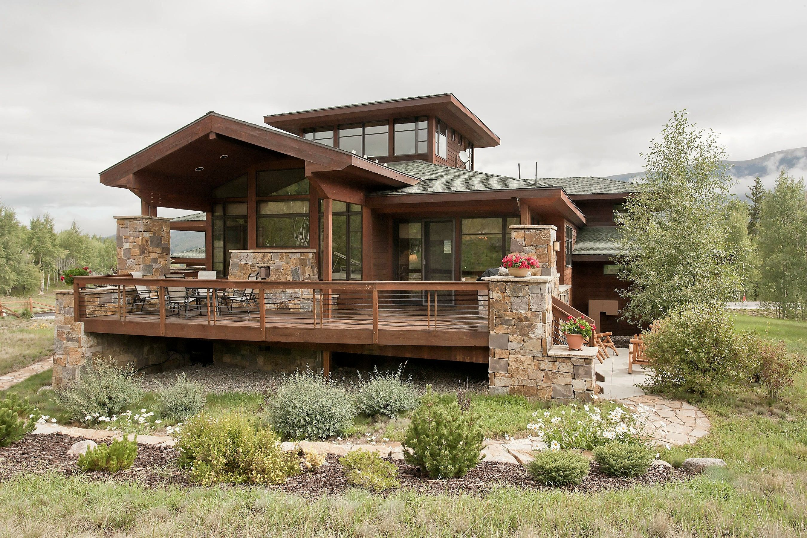 1705 Golden Eagle Road is an architecturally stunning house!