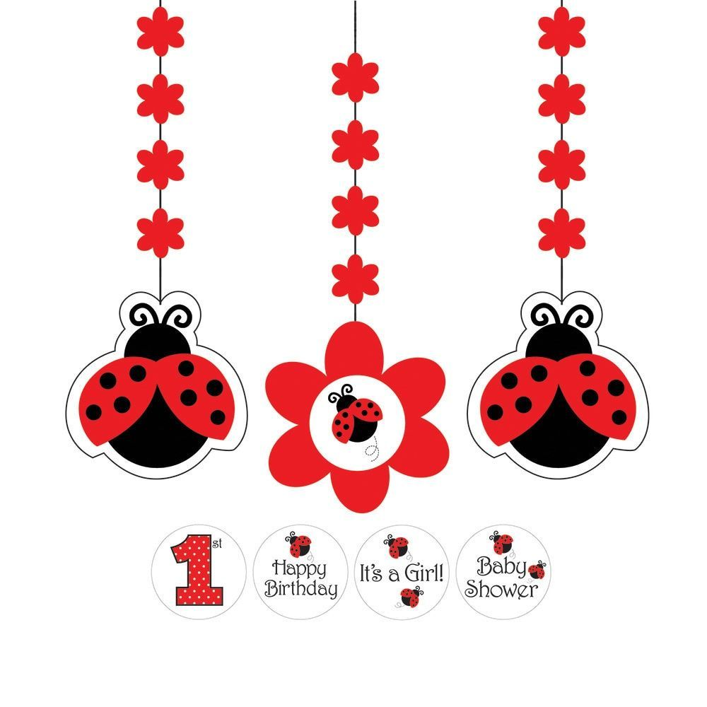 Ladybug Fancy Hanging Cutouts With Stickers Case Of 18