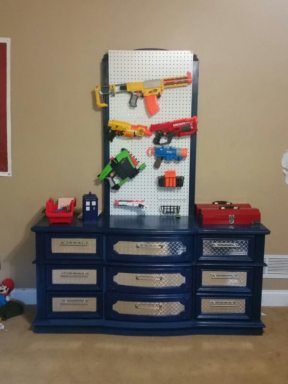 Baby Bedroom In A Box Special: Tool Chest Dresser Makeover