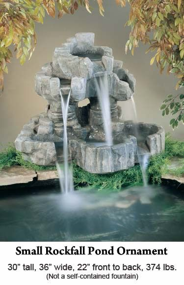 Garden Fountains Small Rockfall Pond Ornament Fountains Outdoor