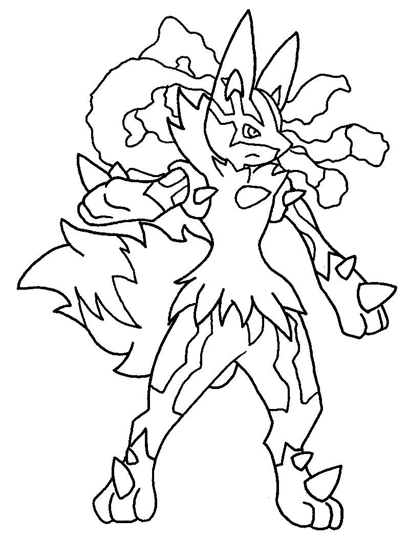 Pokemon coloring pages of mega lucario - Mega Lucario Lineart By Tanbla Pokemon