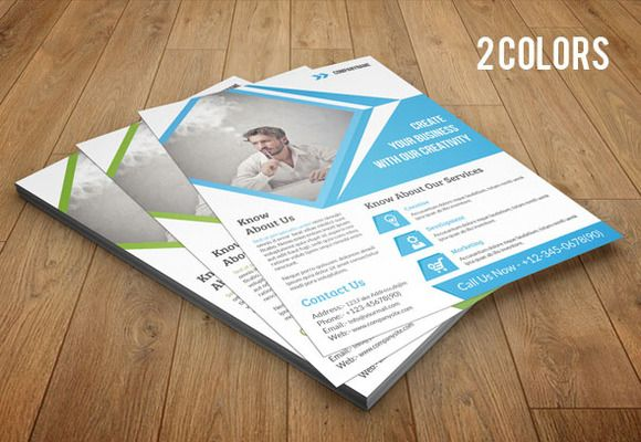 Corporate Flyer Template 2 Color V58 By Template Shop On