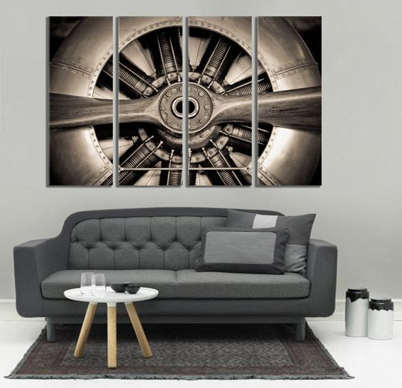 About this product:  -> VINTAGE AIRCRAFT / AVIATION WALL ART / VETERAN WALL DECOR  We use museum quality canvases to achieve archival grade wall art for your home. This gallery wrapped canvas is stretched on durable pinewood framework with 1,5 (4cm) depth (We can make the frame thicker or thinner upon request, just add a note at checkout). We deliver this product wrapped en stretched, ready to hang!  Unbox -> Hang -> Enjoy!  ------------------------------------------------...