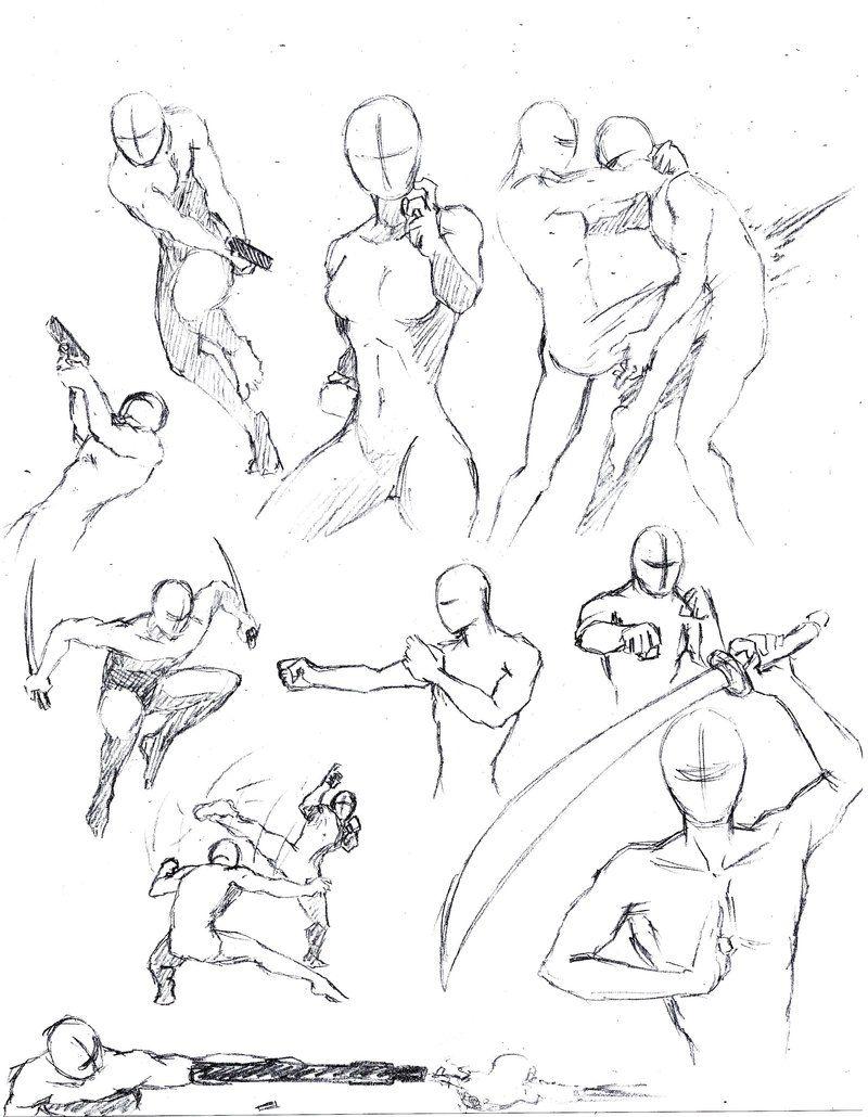 Action Poses 1 By Shinsengumi77iantart On @deviantart